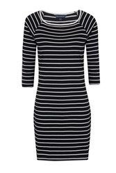 French Connection Tim Tim Striped Dress White And Navy White And Navy