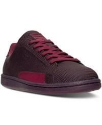 Puma Men's Match Emboss Leather Casual Sneakers From Finish Line Winetasting Red Plum