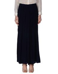 Space Style Concept Skirts Long Skirts Women Dark Blue