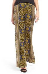Band Of Gypsies Women's Print Flare Leg Pants