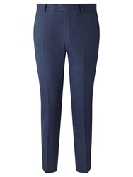 Richard James Mayfair Prince Of Wales Check Slim Fit Suit Trousers Blue