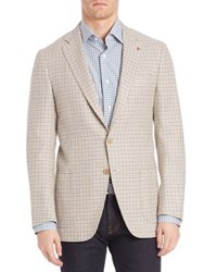Isaia Check Sportcoat Grey