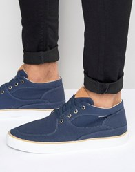 Pointer Mathieson Mid Plimsolls In Canvas Blue