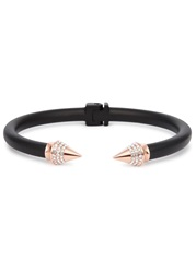 Vita Fede Mini Titan Matte Black Twin Spike Bracelet Rose