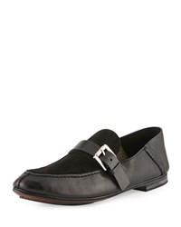 Cnc Costume National Suede And Leather Loafer Black