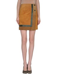 Couture Du Cuir Leatherwear Leather Skirts Women Ocher