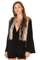 Bb Dakota Jack By Loree Faux Fur Vest Brown