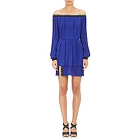 J. Mendel Women's Grommet Detailed Off The Shoulder Cocktail Dress Blue