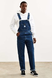 Pointer Brand Tapered Washed Denim Overall Light Blue