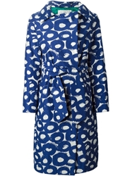 Tsumori Chisato Graphic Print Coat Blue