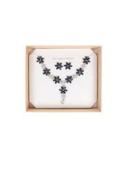 Jacques Vert Crystal Flower Jewellery Set