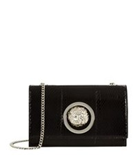 Versus By Versace Flap Chain Shoulder Bag Black