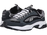 Skechers Stamina Cutback Navy Black Men's Lace Up Casual Shoes Blue
