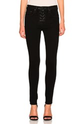 Rag And Bone Jean Lace Up High Rise In Black