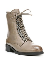 Fergie Nemo Leather Ankle Boots Grey