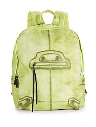 Steve Madden Faux Leather Trimmed Backpack Green