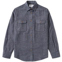 Tripl Stitched Tweed Overshirt Blue