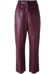 Maison Martin Margiela Mm6 Cropped Trousers Pink And Purple