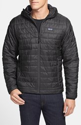 Men's Patagonia 'Nano Puff' Packable Water Resistant Hooded Jacket Black