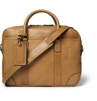 Polo Ralph Lauren Leather Briefcase Tan