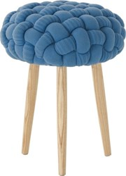 Gandia Blasco Knitted Knot Blue Stool