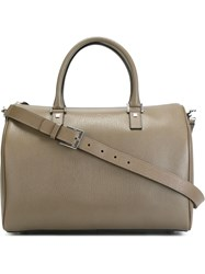 Salvatore Ferragamo Structured Tote Grey