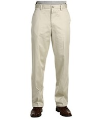 Dockers Signature Khaki D2 Straight Fit Flat Front Cloud Men's Casual Pants White