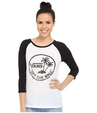 Vans Authentic Surf Raglan White Black Women's Long Sleeve Pullover