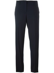 Incotex Straight Leg Tailored Trousers Blue