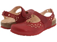 Think Julia 86341 Rosso Leather Women's Clog Shoes Red