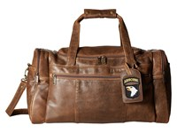 Scully Squadron Duffel W 81 Aero Squadron Luggage Tag Antique Brown Duffel Bags