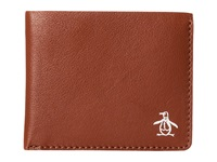 Original Penguin Printed Single Fold Wallet English Tan Wallet Handbags