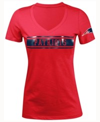 5Th And Ocean Women's New England Patriots Touchback Le T Shirt Red