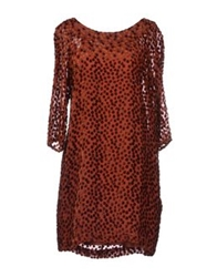 Massimo Alba Short Dresses Rust