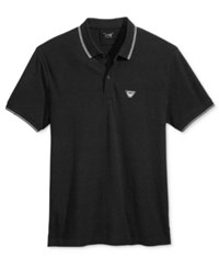 Armani Jeans Men's Polo Solid Black