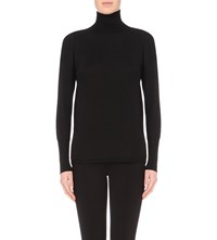 J Brand Clinton Turtleneck Wool Jumper Black