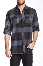 Burnside Plaid Flannel Long Sleeve Shirt Black