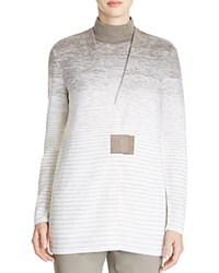Lafayette 148 New York Ombre Wool Cardigan Cloud Multi