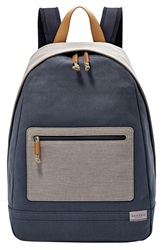 Skagen 'Kroyer' Neutral Colorblock Waxed Canvas Twill Backpack Indigo