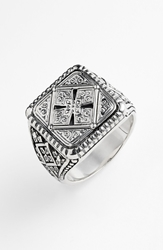 Konstantino 'Classics' Cross Square Ring Silver