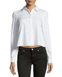 Zac Zac Posen Long Sleeve Poplin Shirt White