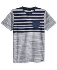 Ocean Current Men's Striped Pocket T Shirt Grey Multi