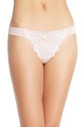 Women's Free People 'Make Your Point' Embroidered Thong Ballet Pink