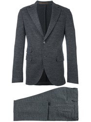 Eleventy Flap Pockets Formal Suit Grey