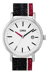 Women's Edwin Selvedge Denim Strap Watch 38Mm