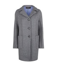 Maxmara Weekend Check Wool Boyfriend Coat Grey