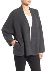 Nordstrom Women's Collection Double Knit Cashmere Blend Open Front Cardigan