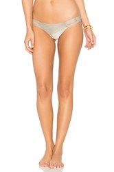 Vitamin A Neutra Hipster Bikini Bottom Metallic Silver