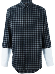 N 21 N.21 Panelled Sleeve Check Shirt Grey