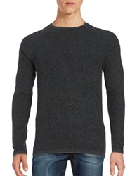 Selected Ribbed Crewneck Sweater Grey